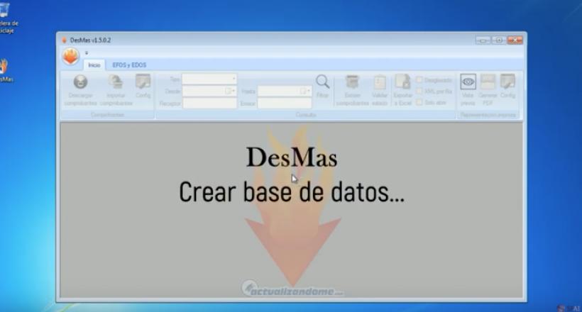 Creando base de datos y sus opciones en DESMAS